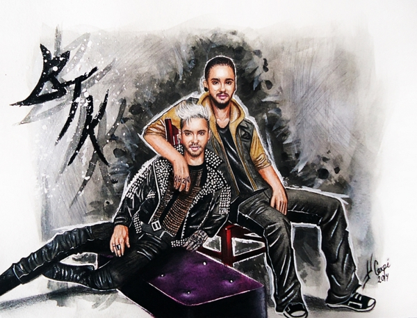 Tom Kaulitz, Bill Kaulitz by Twincestoxa